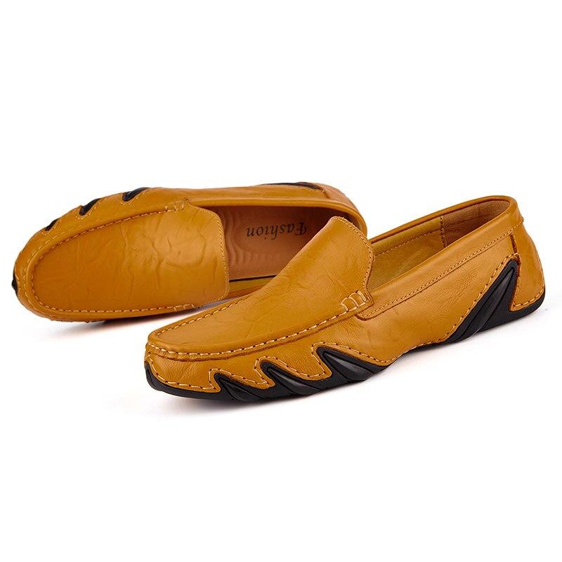 Casual Men Leather Shoes Boat Man's shoe Loafers Mocassin Men's loafer Man Slipons Moccasins Hot Sale Driving Brand Desinger 5
