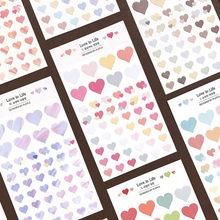 Autocollants en forme de cœur et de points pour enfants, étiquette Scrapbooking, mignon, Kawaii, pour Album Photo, journal intime, cadeau, 2 pièces/paquet