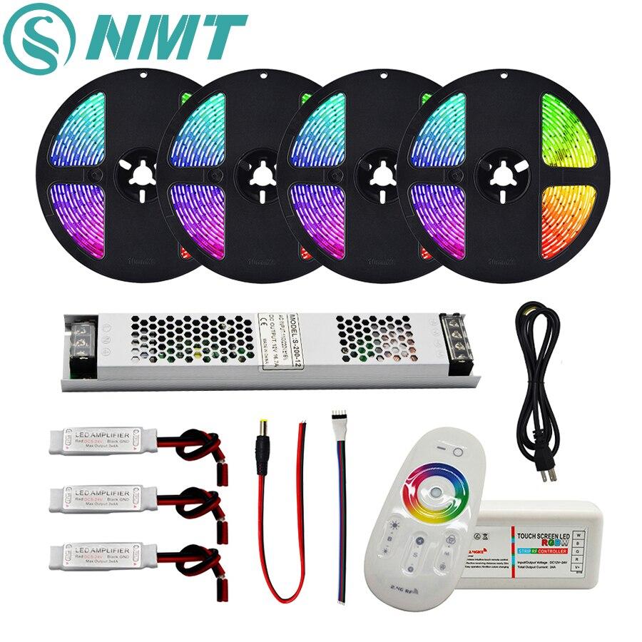 DC12V RGB/RGBW/RGBWW СВЕТОДИОДНАЯ лента SMD 5050 водонепроницаемый/не водонепроницаемый светодиодный светильник + 2,4G RF пульт дистанционного управления