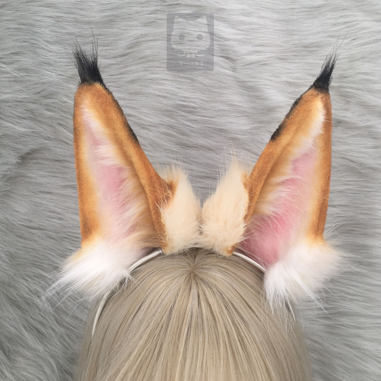 MMGG New Leptailurus serval Schreber Animal style Ears hairhoop for anime lolita cosplay costume accessories