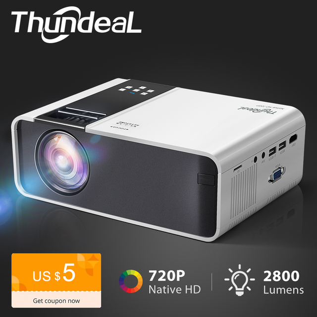 $ US $79.50 ThundeaL HD Mini Projector TD90 Native 1280 x 720P LED Android WiFi Projector Video Home Cinema 3D HDMI Movie Game Proyector