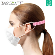 3/10pcs Face Mask Strap Silicone 5 Gears Adjustable Mask Ear Protector Face Mask Extend Band for Adults and Children
