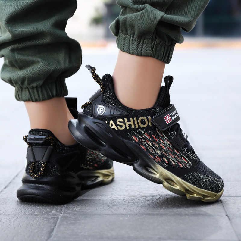 ออกแบบใหม่รองเท้าเด็กรองเท้าเด็กรองเท้าผ้าใบAir Mesh Sportรองเท้าสำหรับเด็กTrainersตะกร้ากีฬาEnfantรองเท้า
