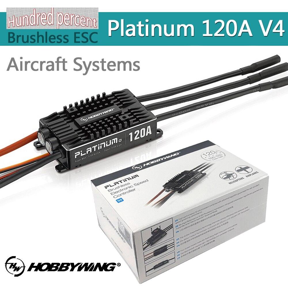 Hobbywing platinum pro v4 120a 3 6 s lipo bec molde vazio esc sem escova para rc zangão helicóptero de aeronaves|Peças e Acessórios|   -