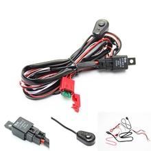 12 В 4.5A автомобильный кабельный жгут Комплект с вкл/выкл реле лезвие предохранитель для светодиодный свет бар противотуманная фара автомобильный