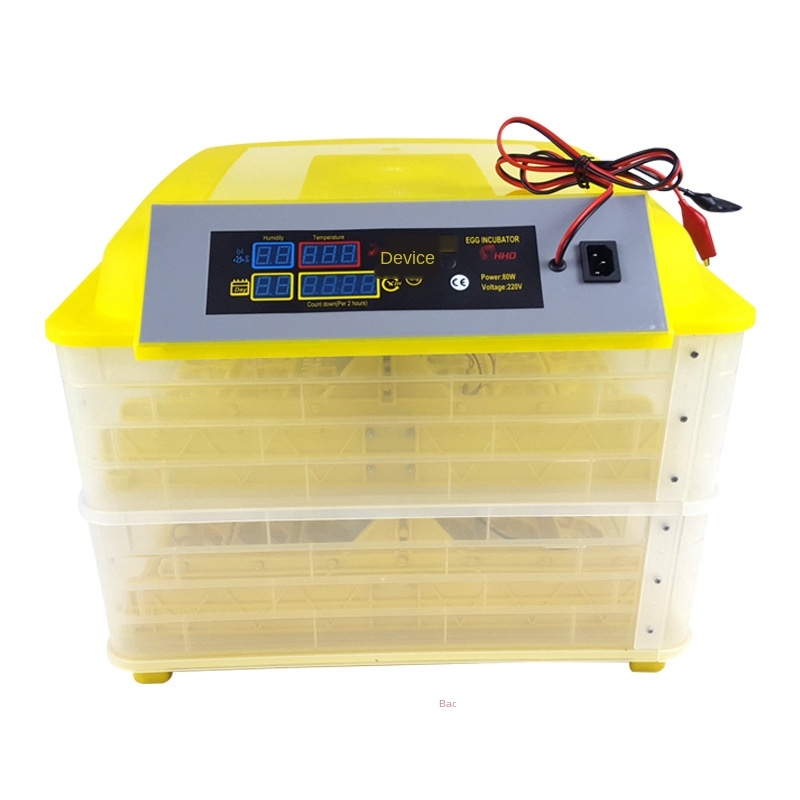 New Arrival 96 Eggs Incubator Double Layers Full Automatic Hatching Machine For Chicken Duck Smart Control 220V+12V LCD Display