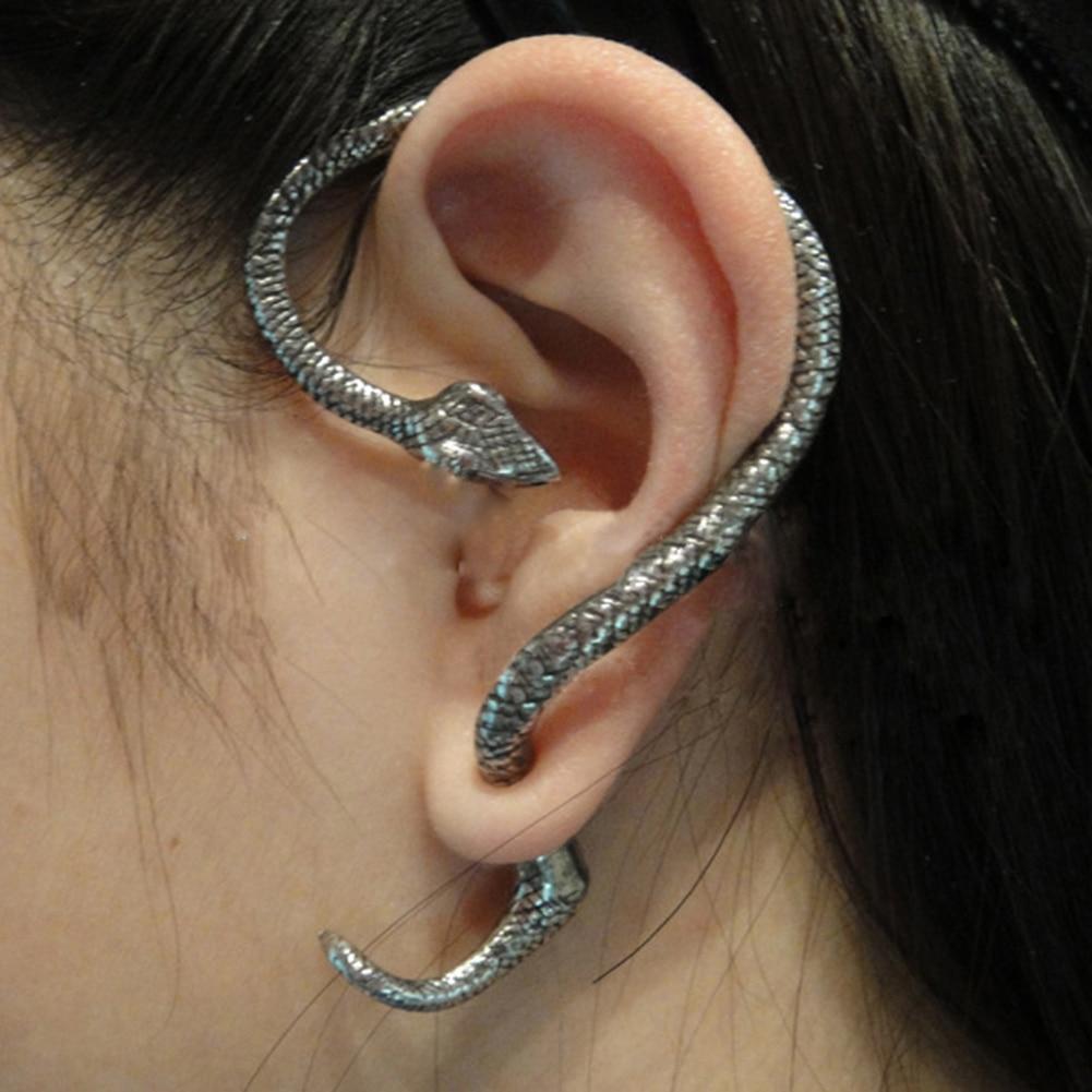 1Pcs Retro Vintage Gothic Rock Punk Snake Shape Ear Cuff Earring Earrings for Women Men Ear Clip Cartilage Piercing Jewelry