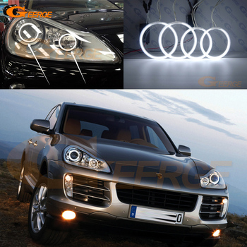 For Porsche Cayenne 957 9PA 2007 2008 2009 2010 Excellent Ultra bright headlight illumination ccfl angel eyes kit Halo Ring for ford c max mki 2008 2009 2010 xenon headlight excellent angel eyes ultra bright illumination ccfl angel eyes kit halo ring