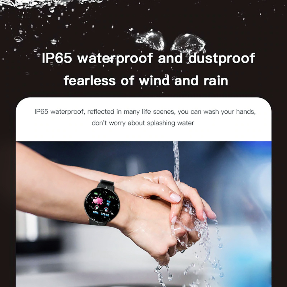 H05d7744d79244a64b902db9963b8c6eaZ Smart Watch D18 Blood Pressure Fitness Tracker Round Smartwatch Waterproof Sports Smart Watch Men Women For Android Ios Z2
