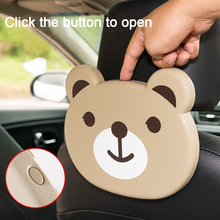 цена на Universal Floding Cartoon Storage Box Back Seat Table Car Drink Food Cup Table Tray Holder Stand Desk Car Cup Holder Accessories