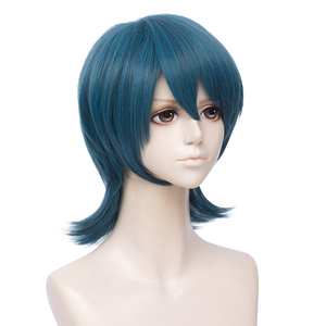 Image 5 - L email wig Fire Emblem Byleth Cosplay Wig Three Houses Byleth Cosplay Wigs Long Blue Straight Heat Resistant Synthetic Hair