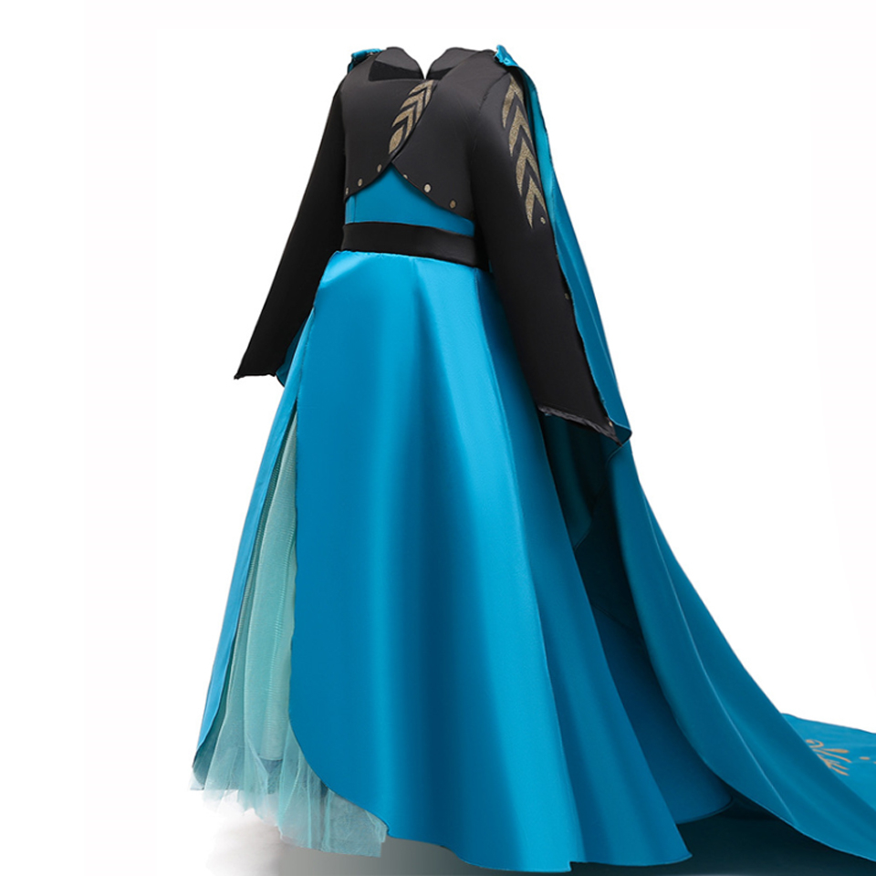 Details about  /Snow Queen 2 Anna Elsa Dress Halloween Costume Child Christmas Gowns