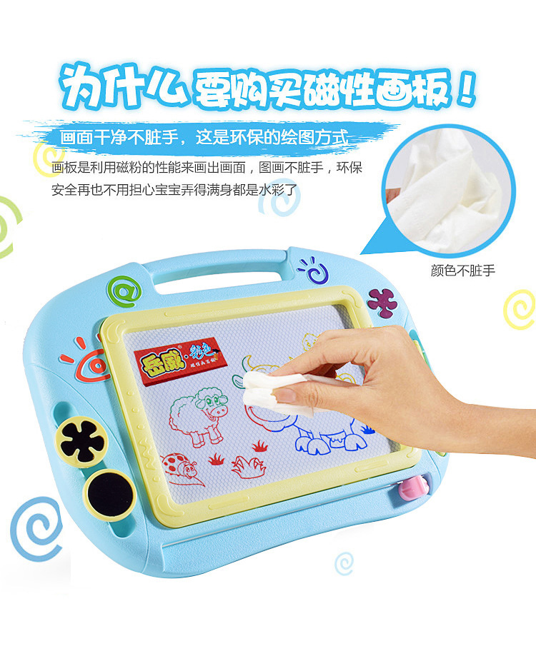 Children Magnetic Drawing Board Toy Cartoon Plastic Wipable Doodle Board Color Medium Magnetic Drawing Board