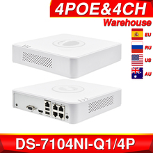 NVR Video-Recorder Hikvision Poe-Nvr Security-Network 6mp-View SATA H.265 DS-7104NI-Q1/4P
