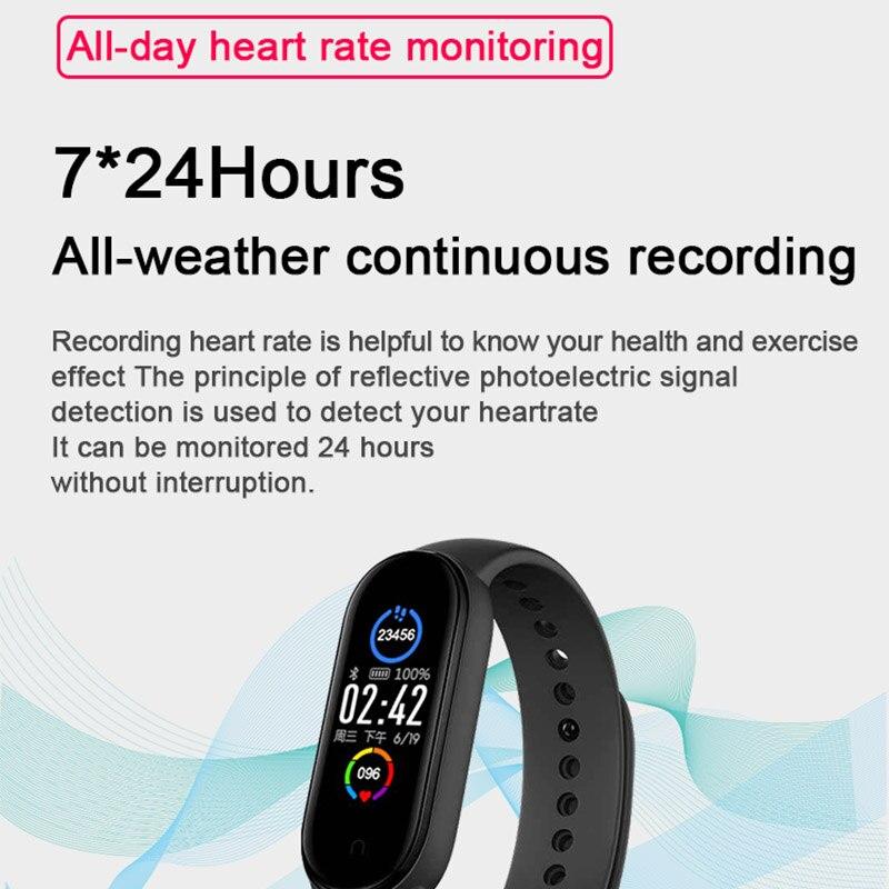 Reloj m5 pulseira relógio inteligente masculino feminino