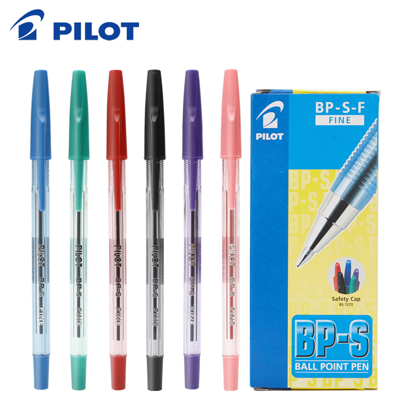 1pcs Japan PILOT Ball Pointer Student Office BP-SF Color Oil Pen 0.7mm Classic Transparent Rod