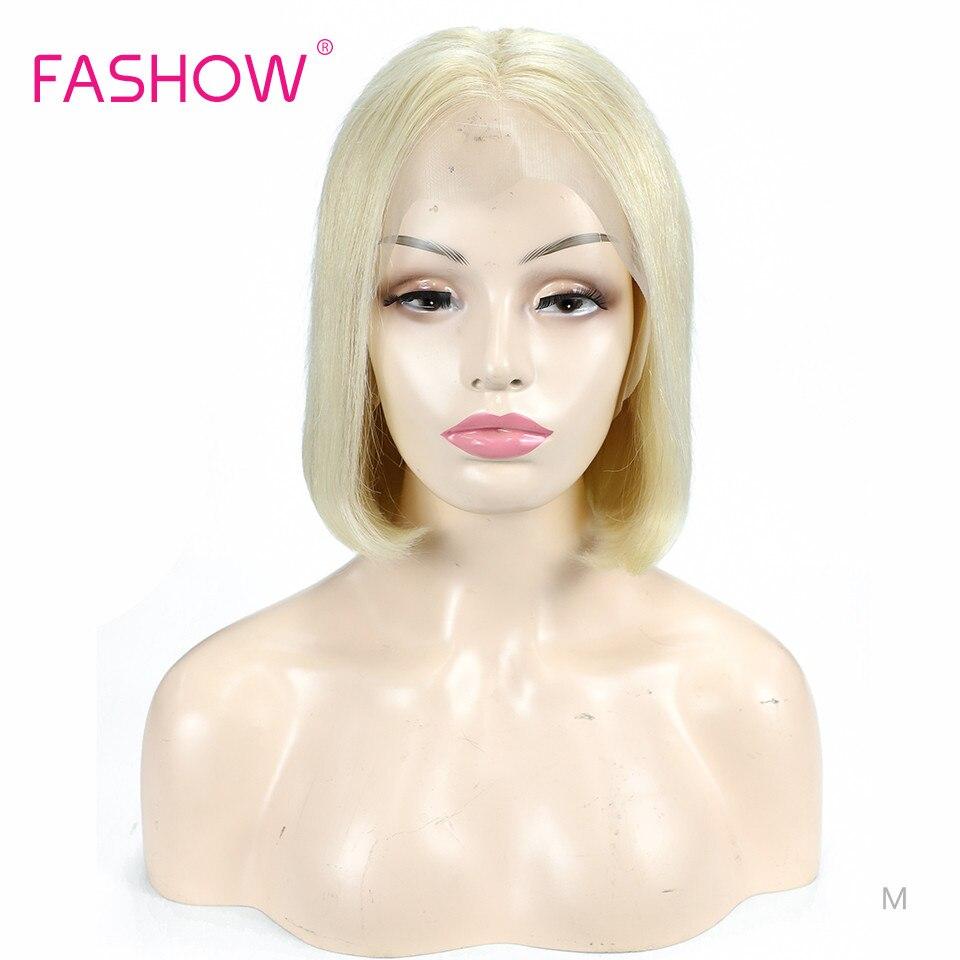 Fashow-perruque Lace Frontal indienne, perruque 613 cheveux humains Remy, lisse couleur blond doux, 13 × 4, 100% de densité, 150%