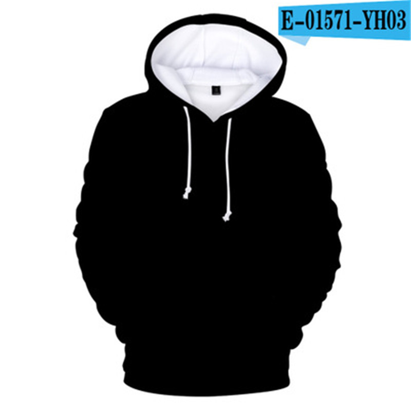 Fashion Black Hoodies Men's 2019 Cap Sweatshirt Men Women Custom 3D Colourful Gradient Hoodie Mens Solid Color Hooded Brand Top