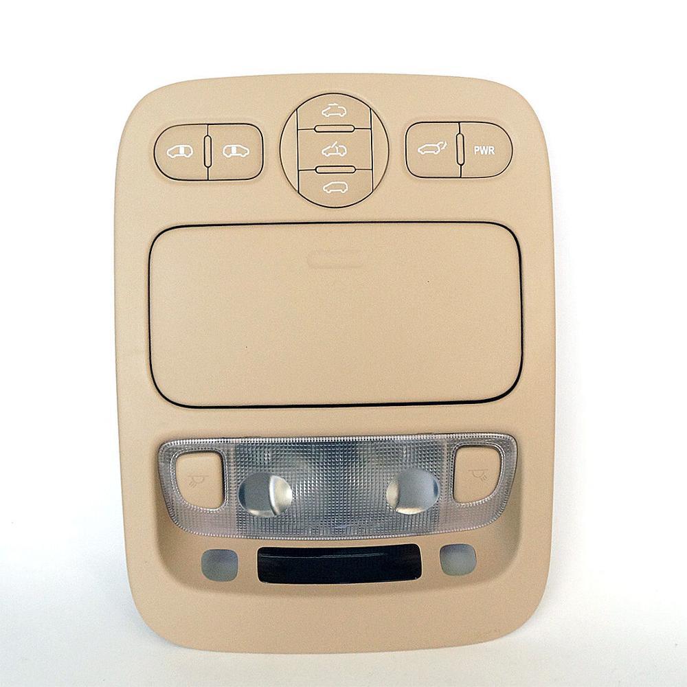 2006-2015 KIA SEDONA OEM BEIGE OVERHEAD LIGHT CONSOLE ASSEMBLY 92821 4D100TW