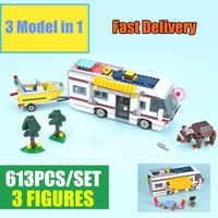 Novo 3117 Criador 3in1 Saídas de Férias fit cidade figuras Modelo technic Blocos tijolos Toy Crianças kid presente de aniversário menino