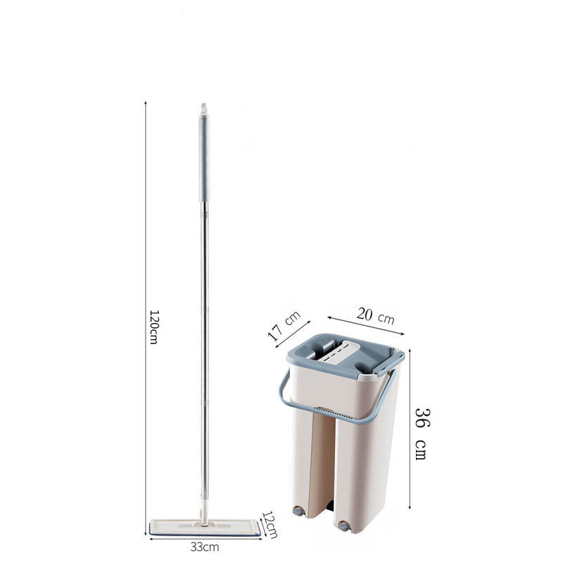Mop Cloth with Bucket Bucket Hand Free Wringing Mop Self Wet And Cleaning System Dry Cleaning Microfiber Mop Floor-5