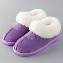 Home slippers Warm Winter slippers Large Size 43-46 Suede Indoor slippers for female Non slip Massage Fur shoes women 2019 New цена 2017
