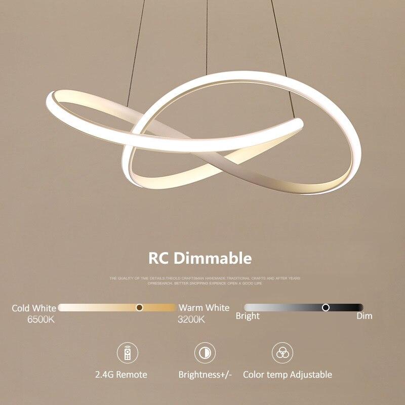 Современный нерегулярный светодиодный светильник люстра из алюминия и акрила, подвесной светильник для столовой, подвесной светильник для... - 6