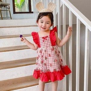 Été enfant en bas âge fille robes été princesse Lolita robe fraise motif vêtements fête robe d'anniversaire Costume filles vêtements