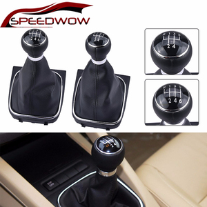 SPEEDWOW Car 5/6 Speed Gear Shift Knob Lever Stick Gaiter Boot Universal For VW Golf 5 6 Jetta MK5 05-10 Sagitar MK6 2009-2012