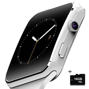 X6 наручные часы, Bluetooth, умные часы, спортивные, шагомер с sim-картой, tf-карта, камера, умные часы для Apple, Android, телефон, часы pk A1 DZ09