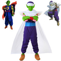 Dragon Ball Z Piccolo Cosplay Costume kids boy child Dragon Ball Piccolo Jumpsuits uniform cosplay halloween Adult men costumes