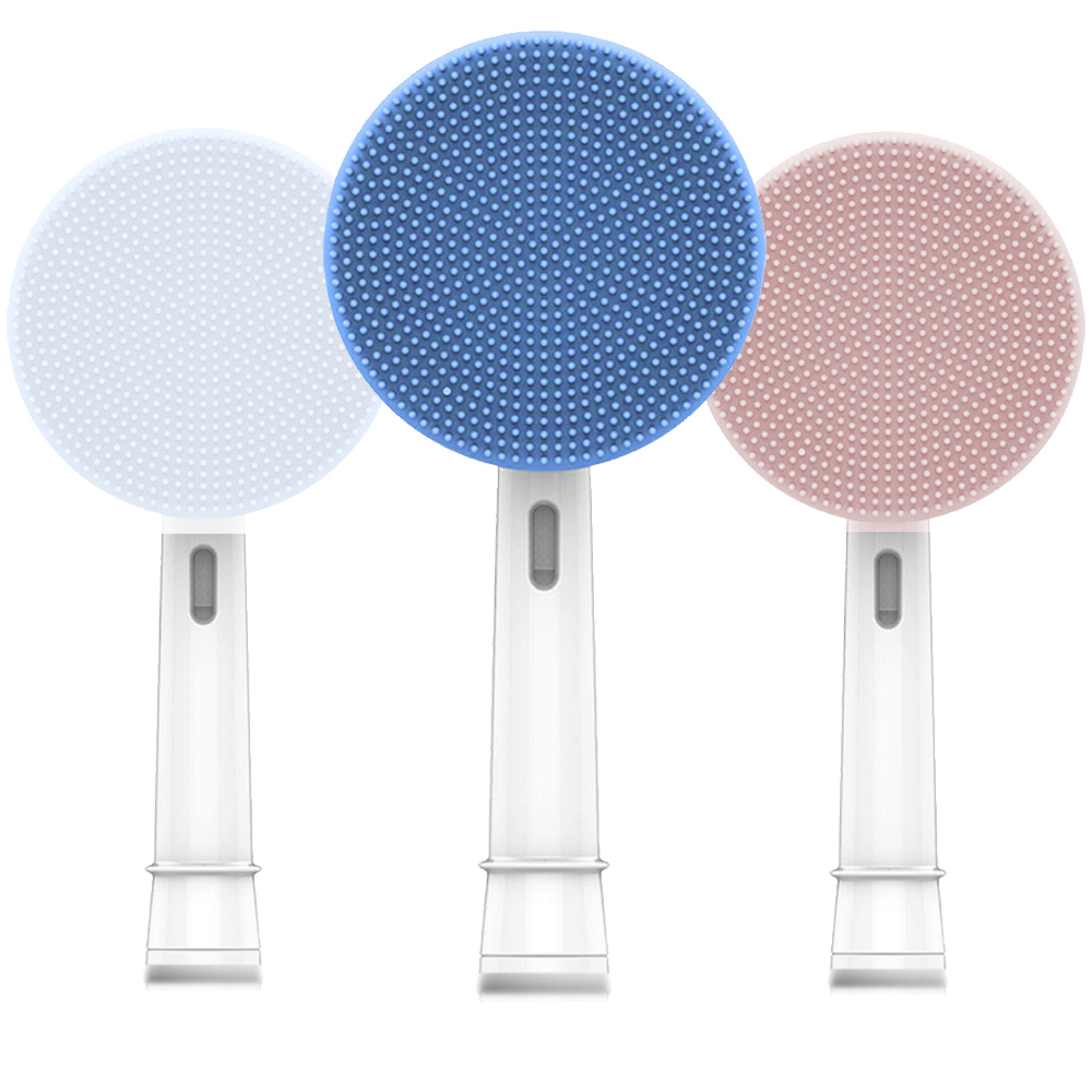Facial Cleansing Brush Head Suitable For Oral-B Electric Toothbrush Face Skin Care Tools Facial Massager Cleanser Brush Heads image