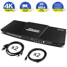 KVM Switches TESmart 4x2 HDMI+HDMI Dual Monitor KVM 4K@60Hz 4:4:4 USB 2.0