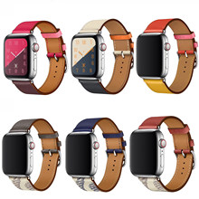 High quality Leather loop for iWatch 40mm 44mm Sports Strap Single Tour band for Apple watch 42mm 38mm Series 1 2 3 4 5(China)