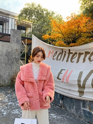 2020 New Style High-end Fashion Women Faux Fur Coat C35