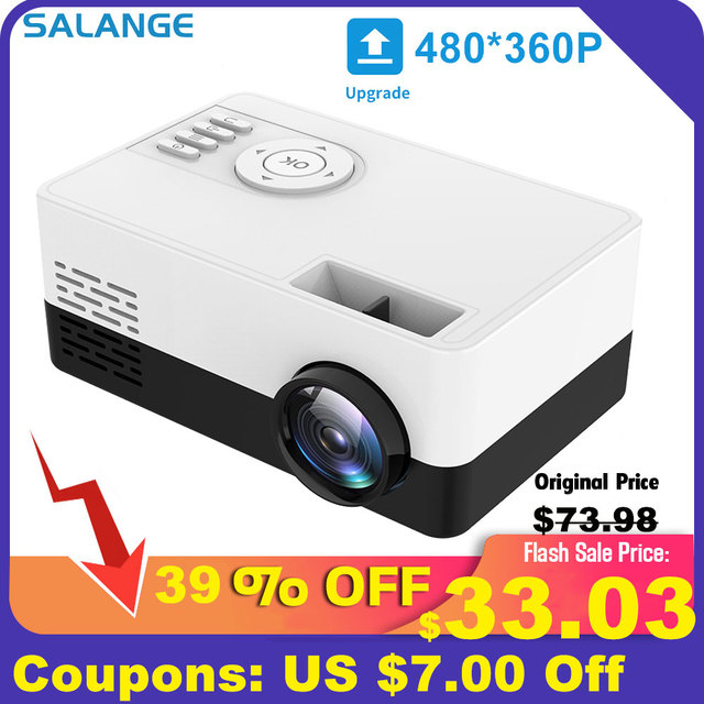 Salange J15 Pro Led Mini Projector for Home Theater 480x360 Pixels 1080P Supported HDMI-Compatible USB Audio Video Mini Beamer 6