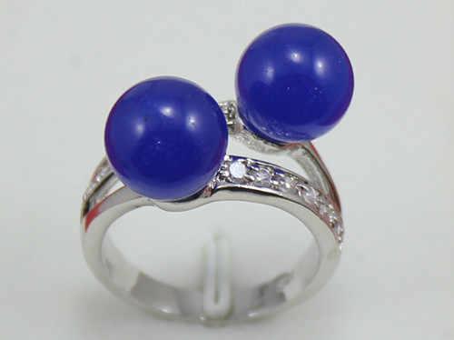 ขายส่งน่ารัก 8 มม.2 สีฟ้าหยกแหวน (#7.8.9) 5.29