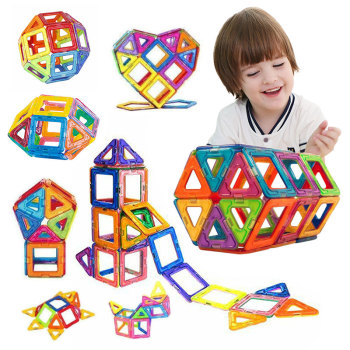 50PCS Magnetic Building Blocks Model  Building Toy  Designer Construction Set  Magnets Magnetic Blocks Educational Toys цена 2017