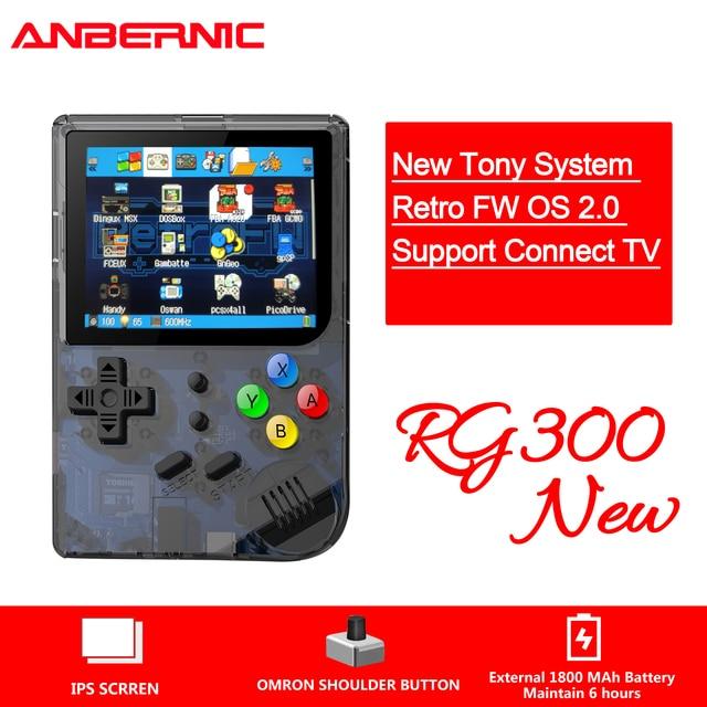 New RG300 version 2 Video games Portable Retro FC console Retro Game Handheld Games Console Player RG 300 3000 GAMES Tony system