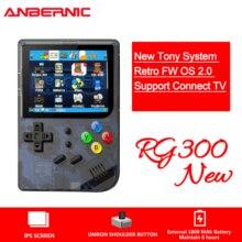 ใหม่RG300รุ่น2วิดีโอเกมแบบพกพาRetro FCคอนโซลRetroเกมมือถือเกมคอนโซลPlayer RG 300 3000เกมtonyระบบ