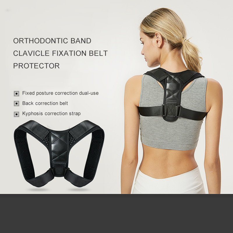 Back Correction Belt Shape Correction Device To Prevent Hunchback Air Permeable Adult Clavicle Strap Running Fitness Equipment