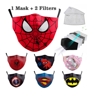 Superhero Spiderman Mouth Face Unisex Mask 3D Printed Face Masks Fabric PM2.5 Mask Filters Windproof Cycling Protective Masks creative japanese neoprene facial masks facelift mask supports pink germanium face sauna rubber mask women use shape 3d v face