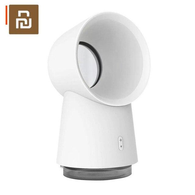 Nieuwste Originele Youpin Hl 3 In 1 Mini Cooling Fan Bladeless Desktop Fan Mist Luchtbevochtiger Met Led Licht Wit