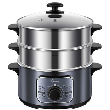 Household Three-layer Electric Steaming Pot  Automatic   Food Steamer  Electric Steam Steam Cooker  Food Warmer 220V