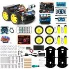 Coches Robot Keywish 4WD para Arduino Starter Kit coche inteligente APP RC robótica Kit de aprendizaje educativo STEM Toy chico lection + Video + código - 2