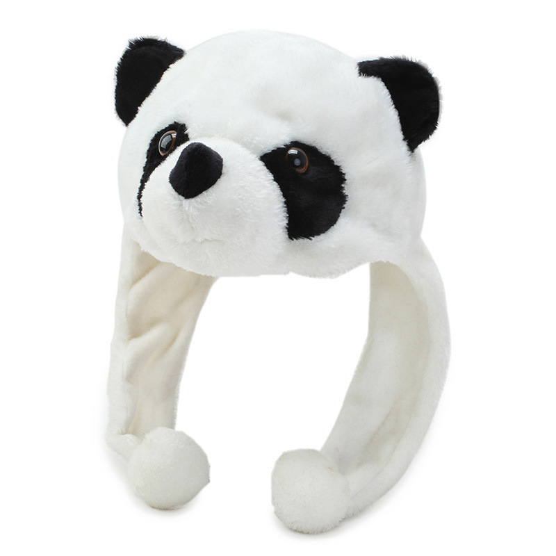Winter Women Panda Hood Hat Cosplay Ladies Girls Animal Plush Prop Warm Caps