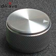 1Pcs High Quality Aluminum  Knob  Potentiometer Knob Audio Volume Knob Encoder Knob 30 * 17 Mm - Silver