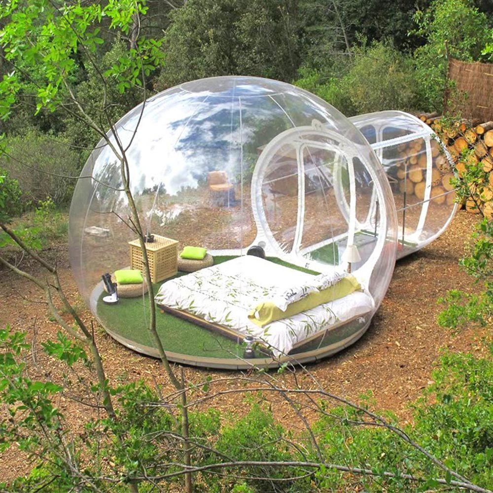 2019 New Inflatable Bubble Hotel 3M/4M/5M Dia Bubble Tent For Camping Beautiful Inflatable Igloo Tent Transparent Bubble Dome
