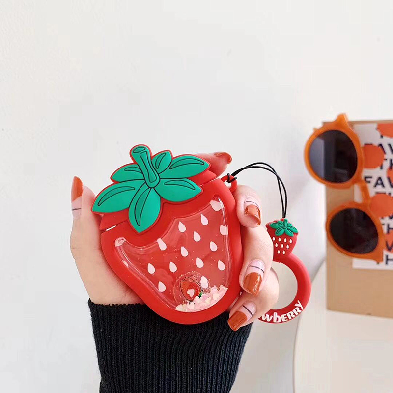 Strawberry Fruit Bluetooth Earphone Case For Apple Airpods 2 Silicone Headphones Cases For airpods case Avocado Protective Cover in Earphone Accessories from Consumer Electronics