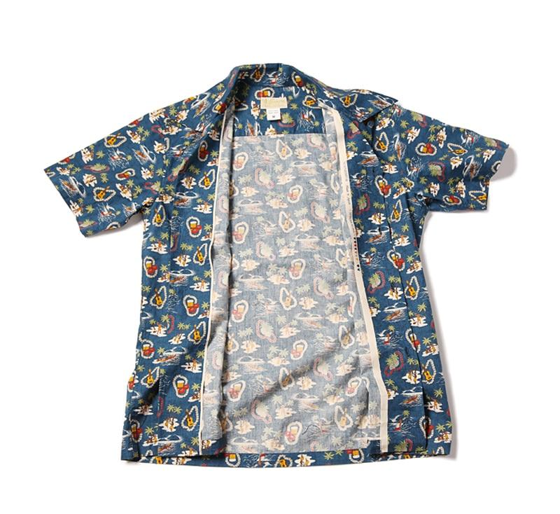 Bronson Classic Aloha Hula Dancer/Palm/Surfer Printing Hawaiian Shirts For Men